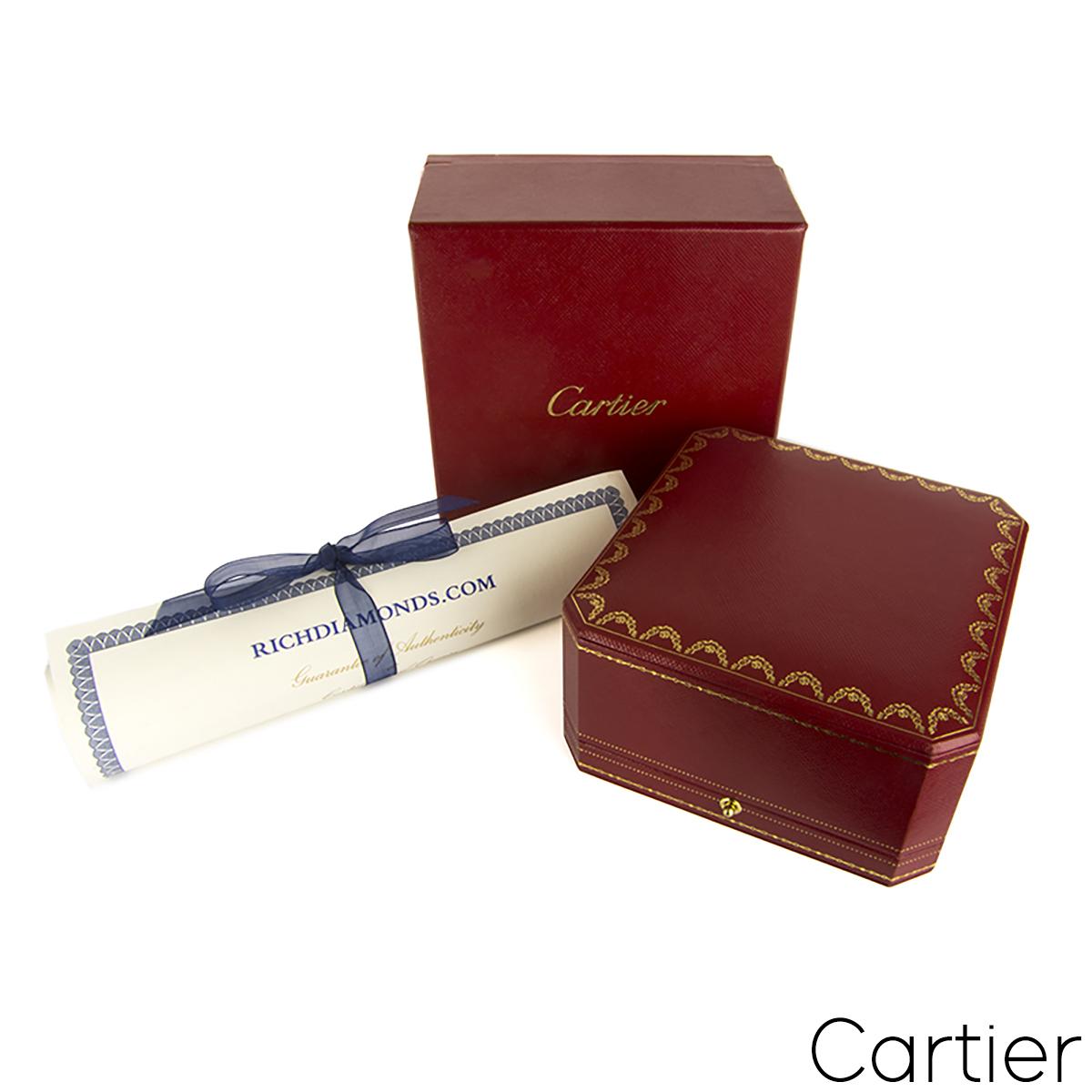 Cartier White Gold Pave Diamond & Ceramic Love Bracelet Size 20 N6032420